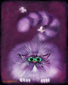funny purple kittens