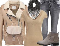 Cet automne, craquez pour un perfecto!  http://stylefru.it/s280944 #perfecto #bottines #jeans