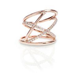 Women's Diamond Rings by Rachael SARC Alyssa Rose Gold Diamond Pavé... (77 665 ZAR) ❤ liked on Polyvore featuring jewelry, rings, rose gold ring, pave diamond ring, rose gold pave ring, diamond jewellery and white ring