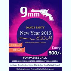 You Are Invited  To The New Party Destination in Bhopal Explore Club 9mm Enjoy The Party Till The Sunrise...For Details Call 9039997650 9893435521