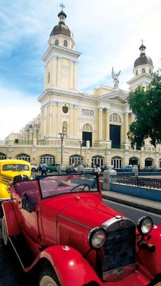 Cathedral of Santiago de Cuba, found in the heart of the historic city. Varadero Cuba, Cuba Beach, Beautiful Islands, Beautiful Places, Going To Cuba, Visit Cuba, Photo Vintage, Destinations, Cuba Travel
