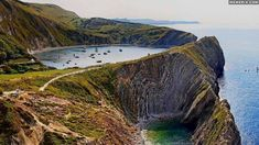 England Travel Inspiration - This is Stair Hole, next to Lulworth Cove, Dorset, United Kingdom.I've been here, Lulworth cove is really pretty! Places Around The World, Oh The Places You'll Go, Places To Travel, Places To Visit, Around The Worlds, Lonly Planet, Wonderful Places, Beautiful Places, Lulworth Cove