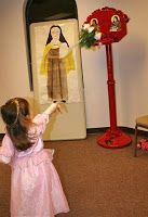 Lots of ideas for Catholic Saint-themed games for an All Saints Day Party.