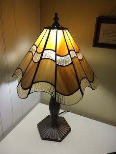 6 Panel Stained Glass Lamp Shade