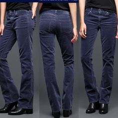 Like new GAP perfect boot cut corduroy pants Worn and washed once. Stretch corduroy denim with 5 pocket styling. Color is indigo. Medium rise. Slim through hip and thigh. GAP Pants Boot Cut & Flare