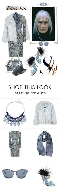 """""""Wow Factor: Faux Fur & Age is Just a Number Contest!"""" by ragnh-mjos ❤ liked on Polyvore featuring Miss Selfridge, Tory Burch, Prada and Genie by Eugenia Kim"""