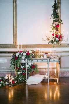 This romantic wedding decor has us ready to play dress-up! Head over to 100 Layer Cake to see more gorgeous inspiration.