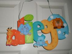 . Painting Wooden Letters, Wooden Crafts, Ideas Para, Baby Room, Baby Shower, Lettering, Birthday, Party, Projects