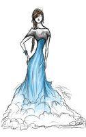 water fall dress - SKETCH by ~SunnyFire on deviantART