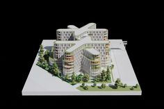 3XN Wins Competition for Copenhagen Children's Hospital with 'Playfully Logical' Design,Model. Image Courtesy of 3XN