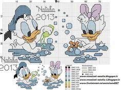 Disney baby cross stitch Donald and daisy
