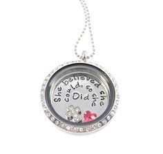 She believed she could so she did LIving Locket / Floating Locket by Silver Impressions
