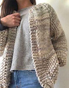 Knitting Needle Case, Loom Knitting, Knitting Patterns, Crochet Motif, Knit Crochet, Knit Fashion, Fashion Outfits, Knit Cardigan, Pullover