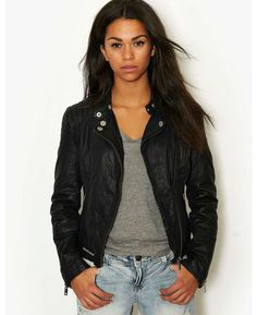 Superdry Angel Leather Biker Jacket - BANK Fashion, bringing you all the latest fashion for women and men from your favourite designer brands.