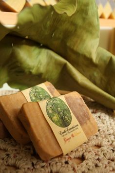Ginger and Lemon natural soap bar.