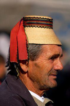 Europe: Traditional hat, Maramures, Romania