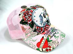 In love with this pink ed hardy hat