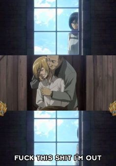 Even tho it was sad that Armin was getting pawed at I still think this is funny