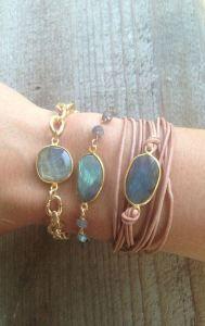 Leather wrap Bracelet with Labradorite Bezel Set by Joy Dravecky Leather Jewelry, Boho Jewelry, Gemstone Jewelry, Jewelry Box, Jewelry Bracelets, Jewelery, Jewelry Accessories, Handmade Jewelry, Fashion Jewelry