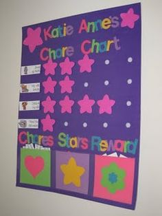 Keeping Up with The Joneses: My Latest Creation - Chore Chart Toddler Chores, Toddler Behavior, Toddler Discipline, Toddler Activities, Chore Chart For Toddlers, Reward Chart Kids, Kids Rewards, Star Chart For Kids, Charts For Kids