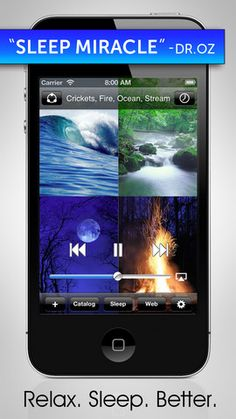 White Noise App: This app can control your room's ambiant sounds and use them to drown out other noises. The app includes 40 sounds like ocean waves crashing, or the white noise of a television. Just enough noise to help you fall asleep.