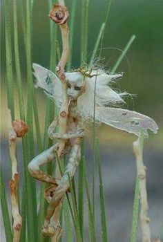 A fairy made from stalks
