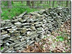 Mom & Dad had a stone wall at the edge of their property.