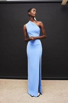 Solace London Makes Fashion Dreams Come True With This Resort Collection l Womenswear l Women fashion runway look outfit blue gowns Evening Dresses, Prom Dresses, Formal Dresses, Sexy Dresses, Baby Blue Dresses, Ladies Dresses, Summer Dresses, Long Dresses, Elegant Dresses