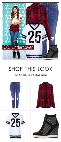"""KC Undercover Style"" by sweet-jolly-looks ❤ liked on Polyvore featuring Topshop, DKNY, Jimmy Choo, disney, zendaya, DisneyChannel and kcundercover"