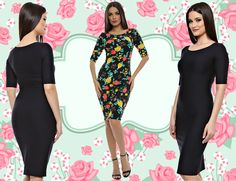 Short Sleeve Dresses, Dresses With Sleeves, Bodycon Dress, Fashion, Moda, Body Con, Gowns With Sleeves, Fashion Styles, Fasion