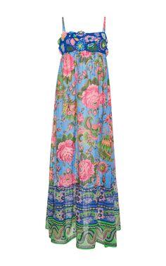 Crocheted Maxi Dress by ANJUNA Now Available on Moda Operandi