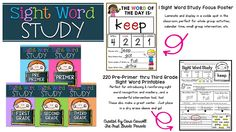 The First Grade Parade: Sight Word Mastery & Intervention