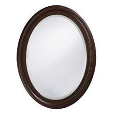 "Howard Elliott 40110 George 33"" x 25"" Chocolate Brown Mirror Chocolate Brown Home Decor Mirrors Lighting"