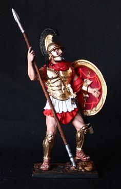 Greek Athenian Hoplite Chief  Tin toy soldier 54 mm., figurine, metal sculpture. #Spbsouvenir