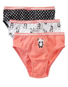 Playful Panda Underwear Three-Pack at Gymboree