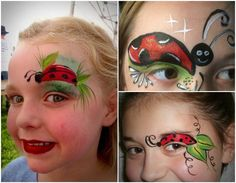 ladybug make-up carnival children eyebrows eyes Source by katrinbohnert Lady Bug Makeup, Eyebrow Makeup, Halloween Makeup, Ladybug, Eyebrows, Projects To Try, Eyes, How To Make, Beauty