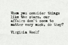 Consider the stars.