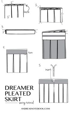 Dreamer Pleated Skirt tutorial