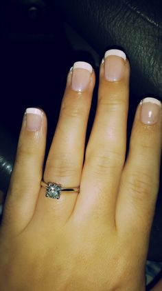 Finally I'm growing my nails!! It's been 25 years, but I've finally broken my habit of picking my nails! Check out my blog to see how I did it!  BecomingBeautifulToday.wordpress.com  #beauty #nails #frenchmanicure #engagementring #habits #breakinghabits