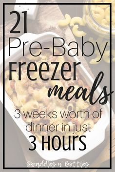 Pre-Baby Meal Prep- 21 Freezer Meals to Make. Make ahead meals to freeze for when baby arrives. Crock pot dump meals and freezer casseroles. meals make ahead crock pot Pre-Baby Meal Prep- 21 Freezer Meals to Make Make Ahead Freezer Meals, Crock Pot Freezer, Freezer Cooking, Freezer Dinner, Meals Good For Freezing, Crock Pot Dump Meals, Chicken Freezer Meals, Freezer Friendly Meals, Meal Prep Freezer