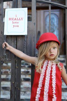 Red Jumper Dress with Polka Dot Ruffles