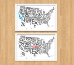 Would be neat to highlight each state we've lived in...although not sure where else we'll being living at this point