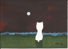 Westie West Highland Terrier Dog 5x7 Original Art by ToddYoungArt, $34.95