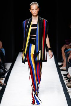 The striking basics: blue+ red + yellow and black + white. Balmain, RTW Spring 2015. Photo: Monica Feudi / Feudi e Guaineri http://www.style.com/slideshows/fashion-shows/spring-2015-ready-to-wear/balmain/collection/38