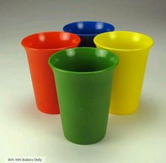 Drank out of these tupperware cups when I was a youngin