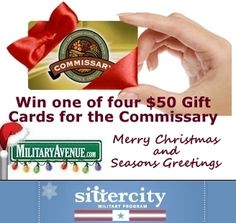We are giving away four $50 gift cards for the commissary.