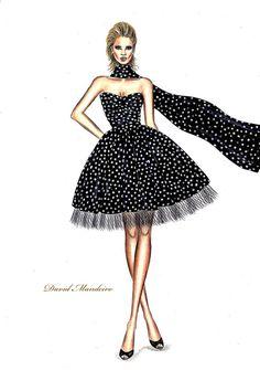 Dress Design Drawing, Dress Design Sketches, Dress Drawing, Fashion Design Drawings, Fashion Illustration Tutorial, Dress Illustration, Fashion Illustration Dresses, Fashion Illustrations, Fashion Figure Drawing