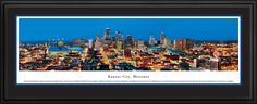 Kansas City, Missouri City Skyline Panoramic Pictures & Posters