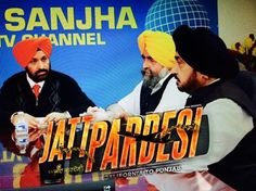 Jaspreet Singh Attorney at law USA , Surinder Shinda and Bhupinder Pandher in a movie scene in up coming Punjabi Movie #JattPardesi coming soon.