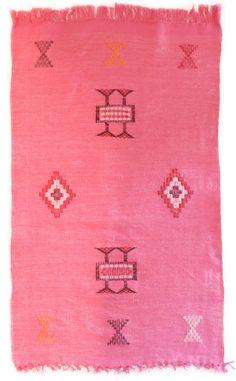 pink Kilim Carpet, www.babasouk.ca